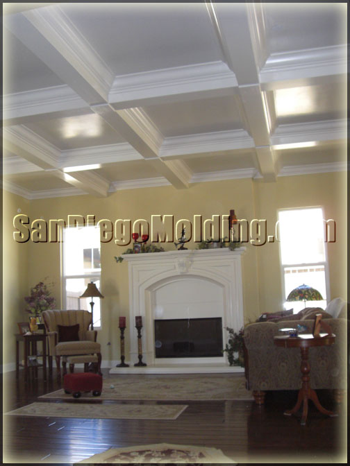 San Diego Molding Coffered Ceiling