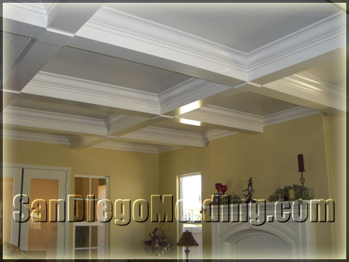 Crown molding vaulted ceilings joy studio design gallery for Coffered cathedral ceiling