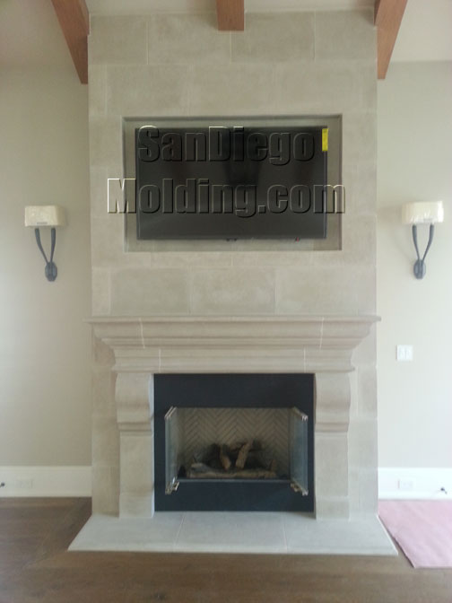 San Diego Molding Precast Stone Fireplace Mantles