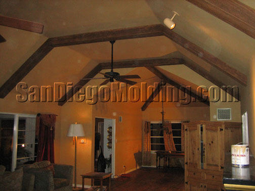 wood beams faux coupon ceiling home depot
